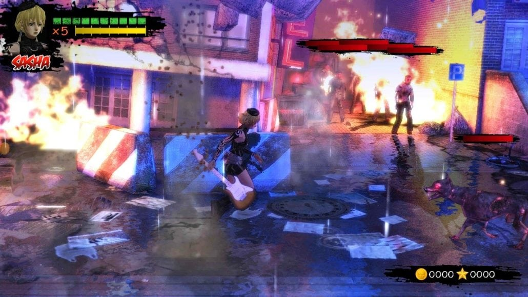 Rock Zombie game play