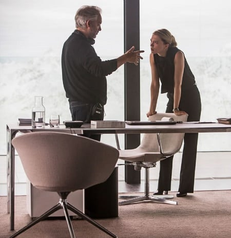 Lea Seydoux with director Sam Mendes