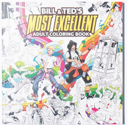 bill and ted colouring book